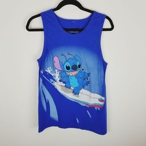 Disney lilo and stitch surfing graphic tank top xs